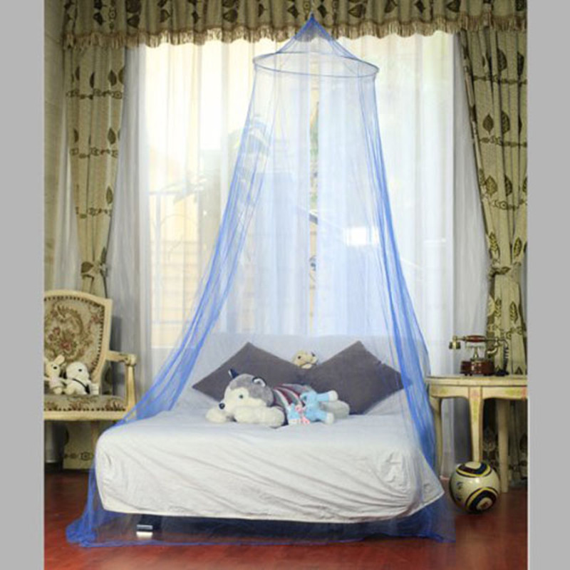 Bed Canopies For Adults Part - 49: New Free Shipping Anti-mosquito White Color Bed Canopy Netting Curtain Dome  Net Outdoor Round