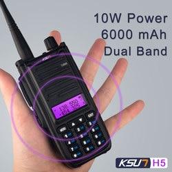 KSUN X-UV68D Walkie Talkie 10W high power Dual Band Handheld Two Way Ham Radio Communicator HF Transceiver Amateur Handy