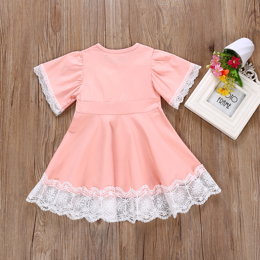 67bbd1702 Pink Lace Baby Girl Dress – DACC