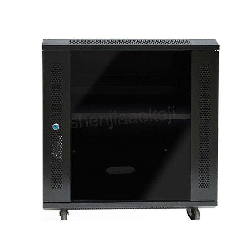 12U armoire réseau armoire murale plaque d'acier laminée à froid + armoire de pulvérisation électrostatique armoire murale 220 V (50Hz) 1 pc