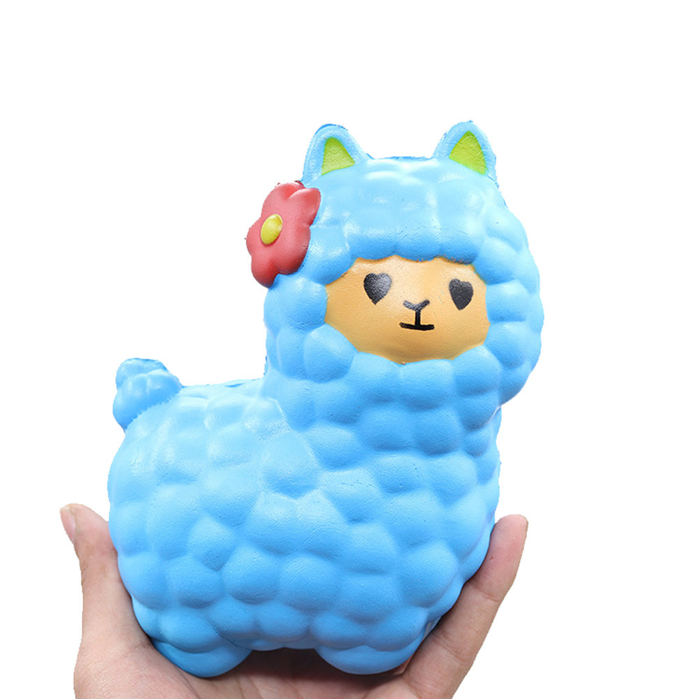 New 2018 Jumbo Sheep Squishy Cute Alpaca Galaxy Super Slow Rising Scented Fun Animal Toys Ring Bell Toy Newborn Infant Early