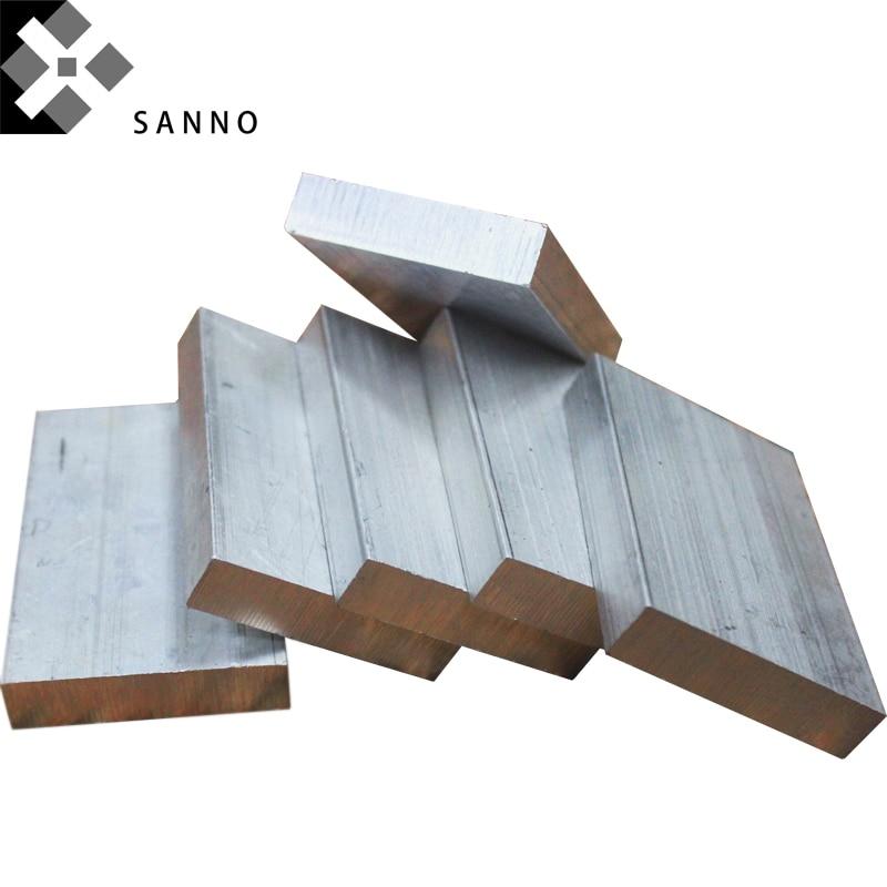 5 PCS Can Be Customized Alloy Aluminum Plate 5X5X500mm / 2X25X500mm / 6X25X500mm Soild Conductive Flat Aluminum Bar