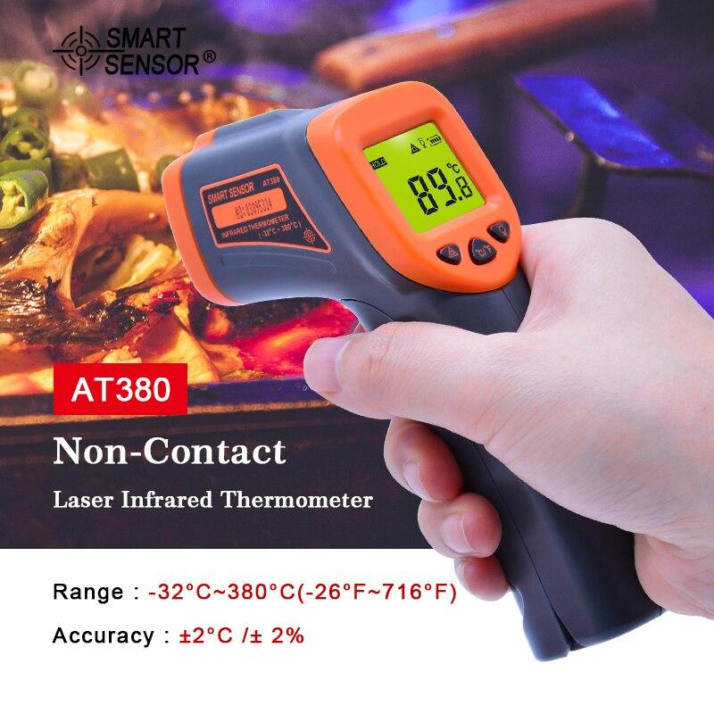 Digital Thermometer gun LDC IR AT380-32 ~ 380 C Nicht-Kontakt IR aquarium Laser thermometer Gun Pyrometer temperatur Meter