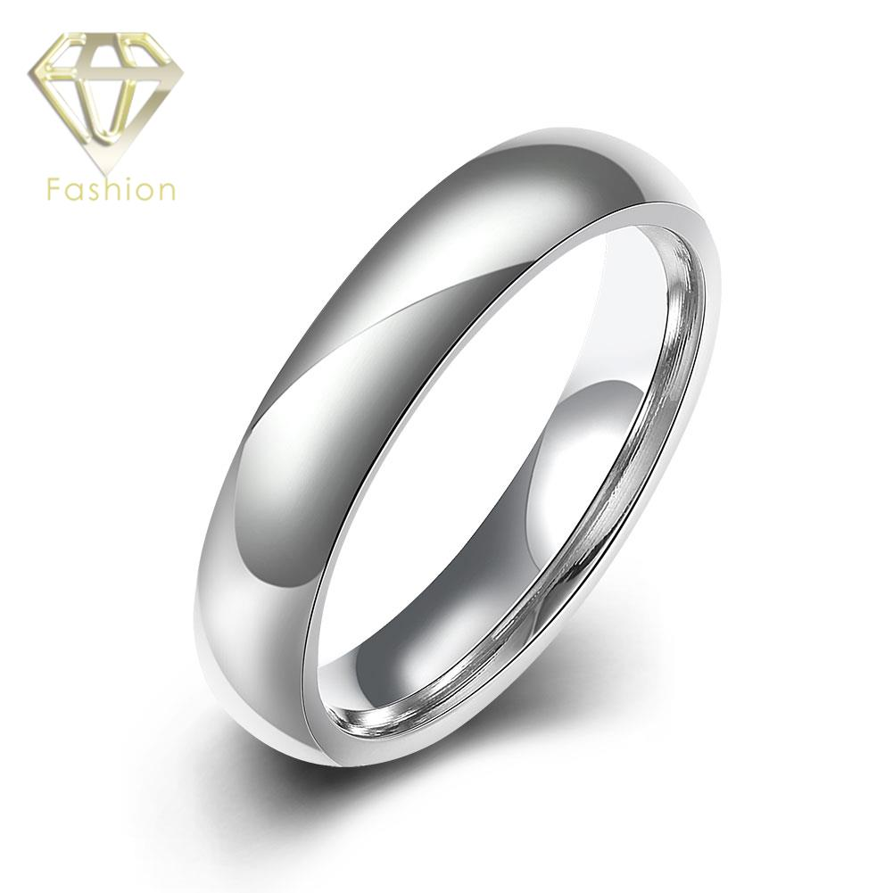 Toe Rings 2017 Classic Silver Plated Simple Smooth Surface Titanium Stainless Steel Rings Fashion Unisex Jewelry for Men Women