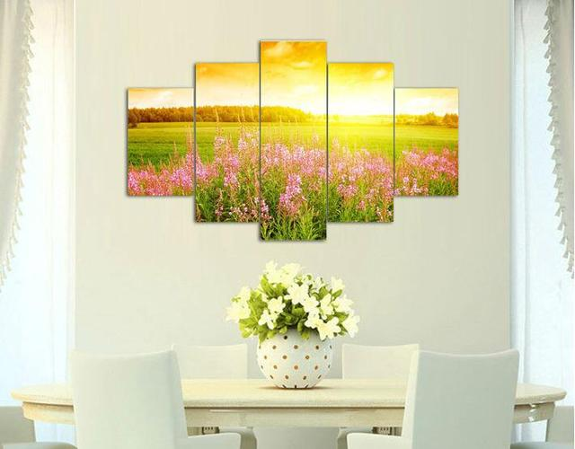 Free shipping print on canvas abstract Sunshine Landscape painting ...