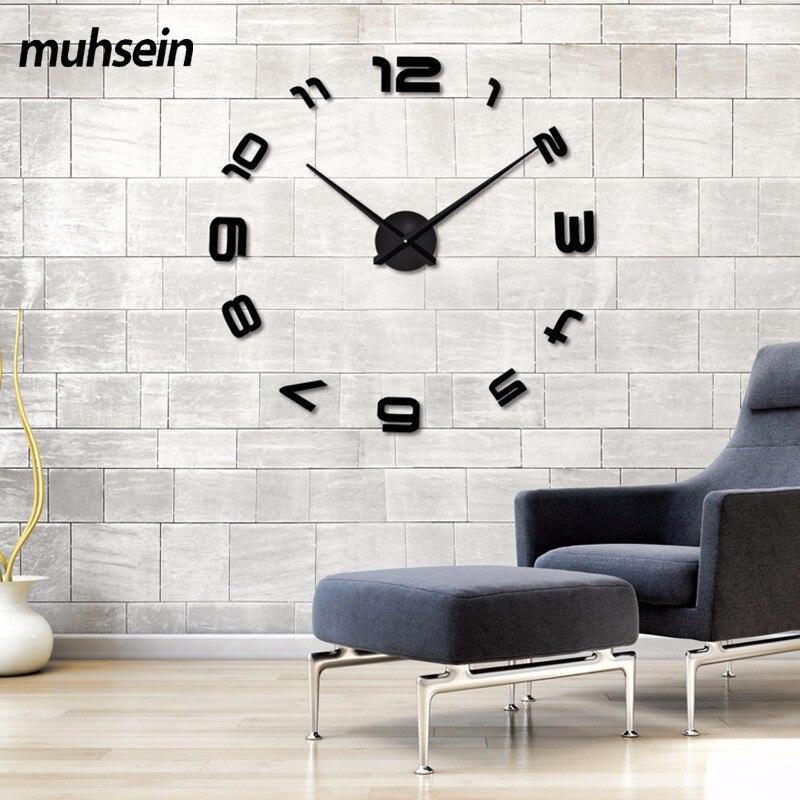 2020 Nuevas pegatinas de pared 3D de alta calidad Relojes de sala de - Decoración del hogar