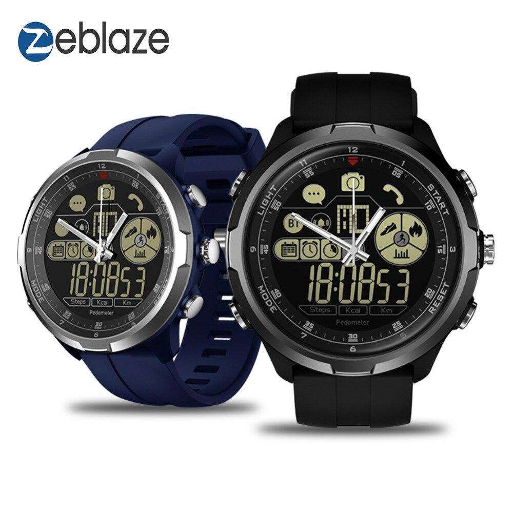 Nuovo Zeblaze VIBE 4 Ibrido di Punta Robusto Smartwatch 50 M Impermeabile 33 mesi di Tempo di Standby 24 h All- tempo di Monitoraggio Intelligente Orologio