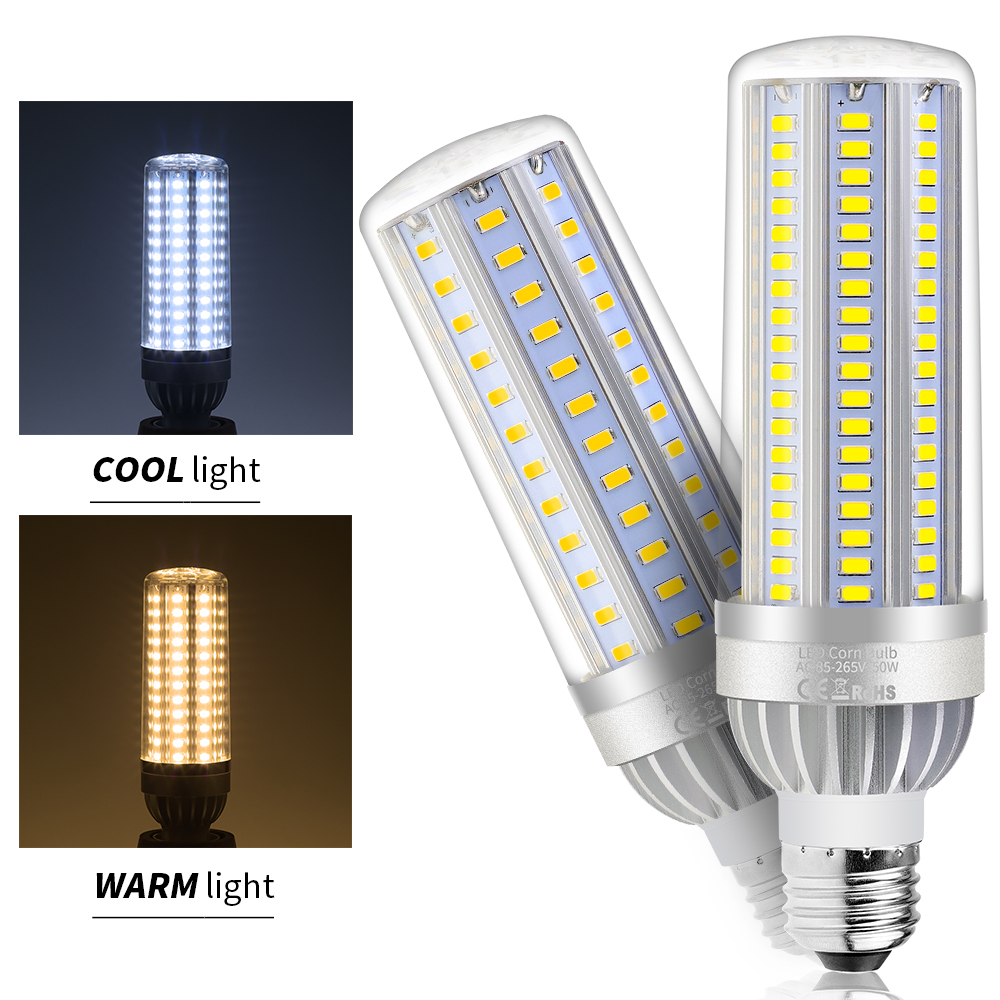 LED Light E26 110V Corn Bulb lamp LED E27 220V 5730 SMD High lumen 25W 35W 50W High power AC85V-265V Led Bombillas Fan Cooling цена