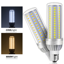 LED Light E26 110V Corn Bulb lamp LED E27 220V 5730 SMD High lumen 25W 35W 50W High power AC85V-265V Led Bombillas Fan Cooling цена