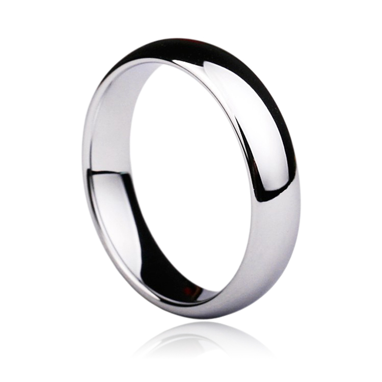 Tungsten Carbide Silver Polished Wedding Band MEN WOMENS Engagement Bridal Ring Jewelry