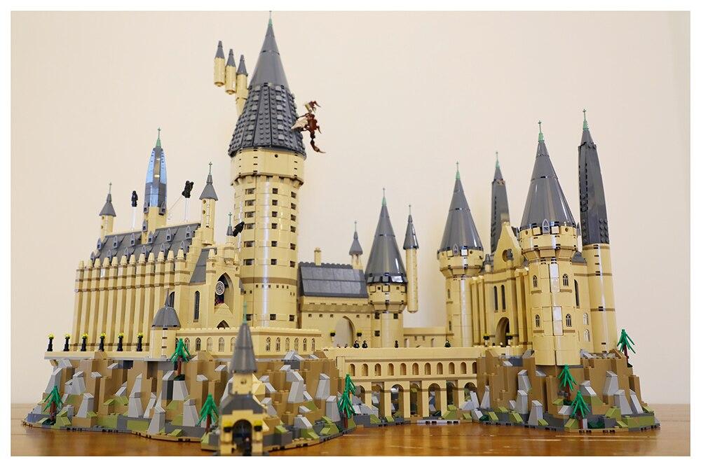 Nouveau Harry Potter Magique Poudlard Château Compatible Legoing Harry Potter 71043 Blocs de Construction Briques Enfants De Noël DIY Jouets