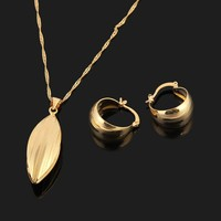 Sky Talent Bao Ethiopian Set Necklace Pendant Earring Set Joias Ouro 22k Gold GF Jewelry African