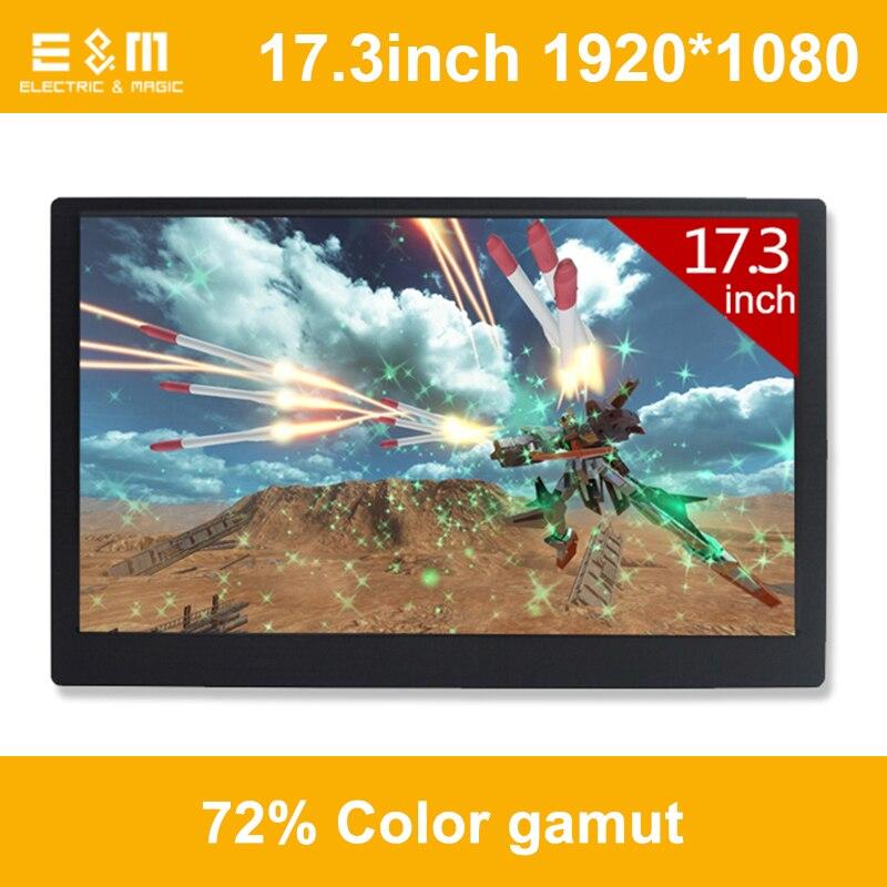 17.3 pollice 120 hz NTSC 72% HDR IPS Tipo C di Gioco Portatile Schermo Di Aggiornamento 1920*1080 Ps4 Xbox NS di Visualizzazione HDMI del Monitor del PC Del Computer Portatile