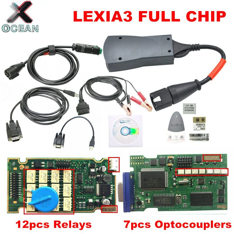 New arrival Lexia 3 Full Chip Diagbox V7 83 8 55 PP2000 V25  V48 Firmware 921815C For Citroen For Peugeot OBDII Diagnostic tool