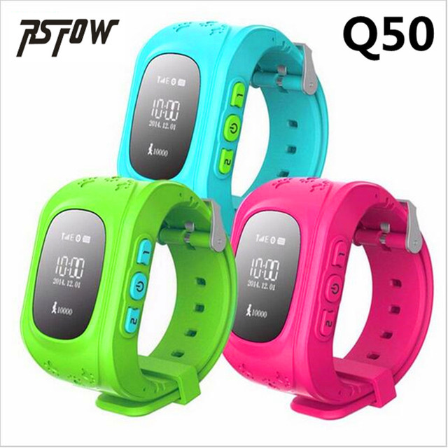 RsFow new Q50 Smart watch Children Kid Wristwatch GSM GPRS GPS Locator Tracker Anti-Lost Smartwatch Child Guard for iOS Android