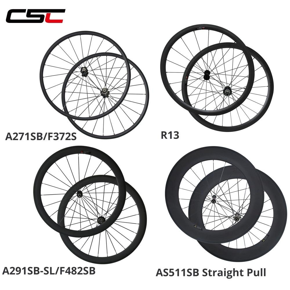 Ultra Light Novatec A291SB SL Carbon Wheelset 24 38 50 60 88mm Depth Clincher Tubular Road
