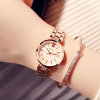 New Kimio Fashion Simple Watches Women Stainless Steel Rose Gold Ultra Thin Ladies Quartz Watch Montre