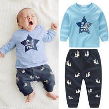 Baby Boy Clothes Spring Bebes Clothing Set Cotton t-shirt+Pants Suit Star Printed Clothes Newborn Sport Costumes Toddler Pajamas