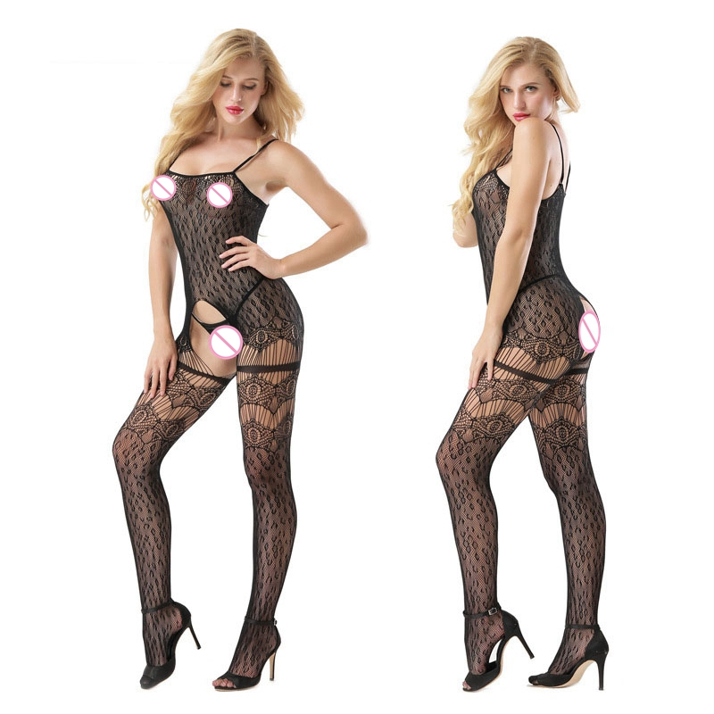 2017 Sexy Women Lingerie Hot Open Crotch Fishnet Sexy Costumes Bodystocking Plus Size Lenceria Erotica Mujer Sexi Teddy Erotic ...