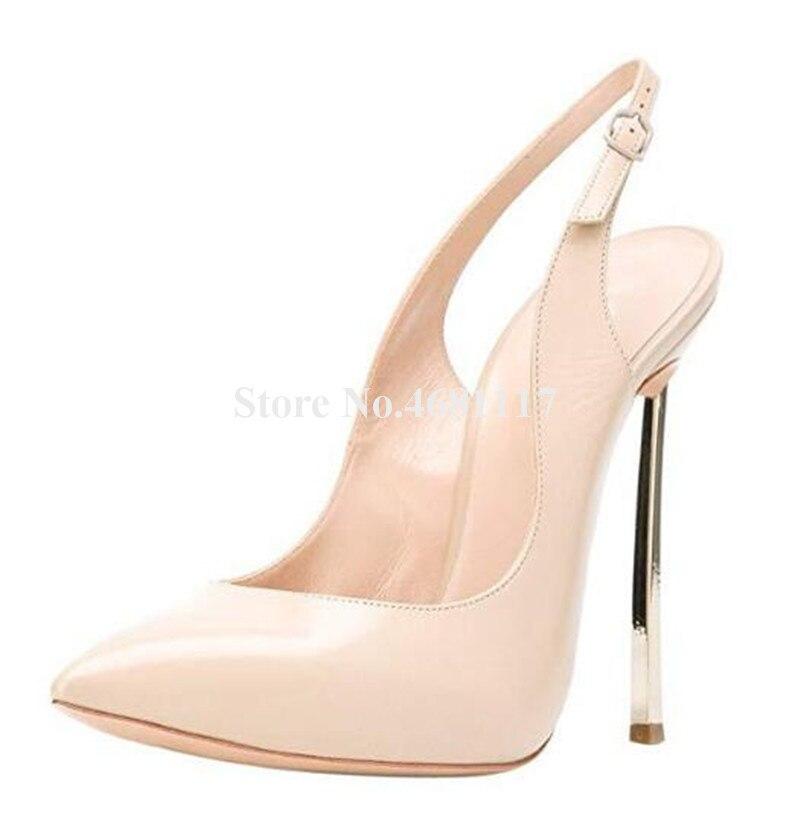 Фирменный дизайн; женские модные туфли лодочки с острым носком на металлическом каблуке шпильке; модельные туфли на высоком каблуке с вырез... - 6