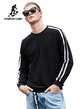 Pioneer kamp yeni varış moda kazak erkekler marka giyim beyaz siyah çizgili hoodie kazak erkek gevşek pamuklu AWY901037