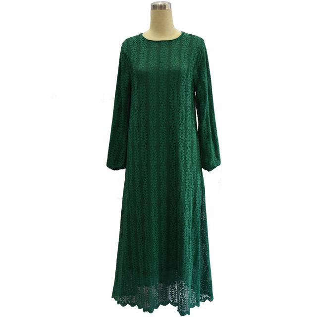2016 mujeres musulmanes visten la chilaba caftán abaya ocasional más tamaño vestido largo de encaje turco árabe dubai robe ropa tradicional