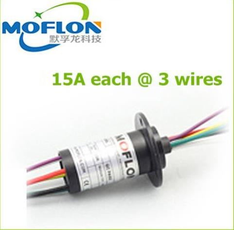 MOFLON slipring  wind turbine 3 wires*15A slip rings large current small size slip ring zsr022 3r20a capsule slip ring for automatic arm slip rings 3 channel 20a large current compact slip ring out dia 22mm