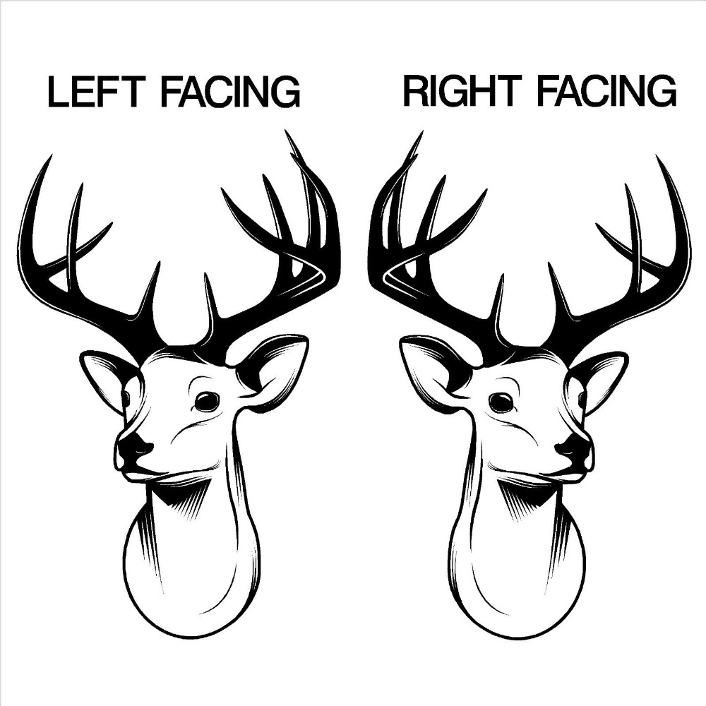 3d STAGS HEAD DEER trophy antlers steer Vinyl wall art sticker ...