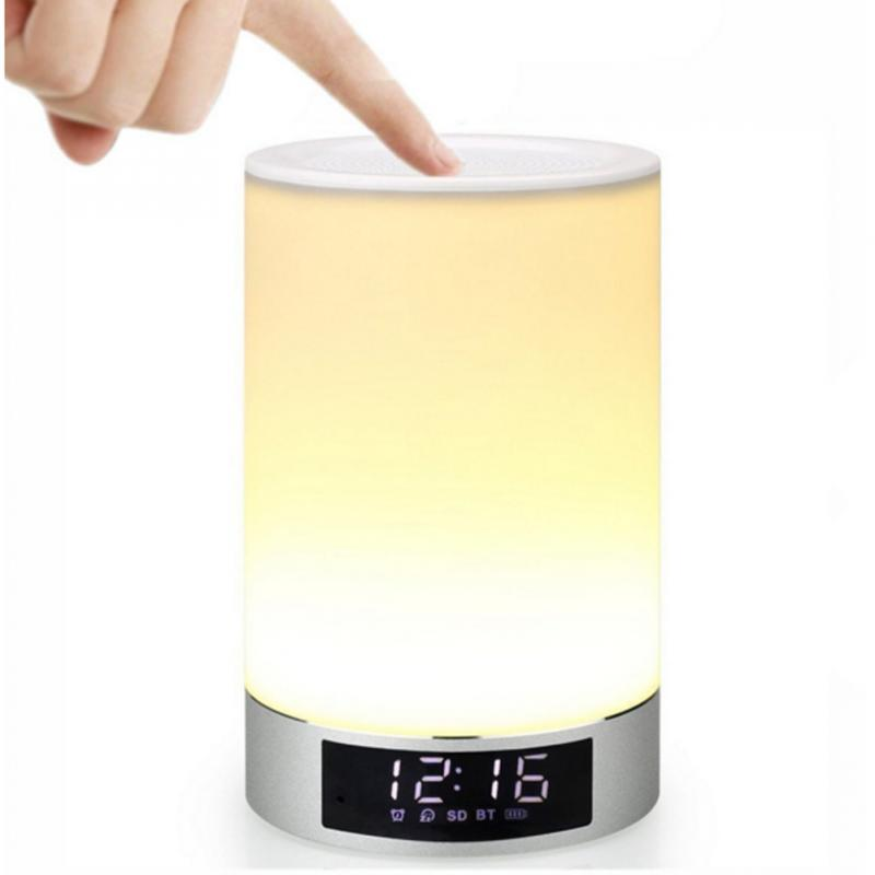 Bluetooth Speakers Colorful LED Lights Atmosphere Lights Intelligent Multi-function Seven-color Discoloration Lamp Music Player 2017 hot bluetooth multi function audio intelligent family host background music system lcd screen touch light dimmer 2 speakers