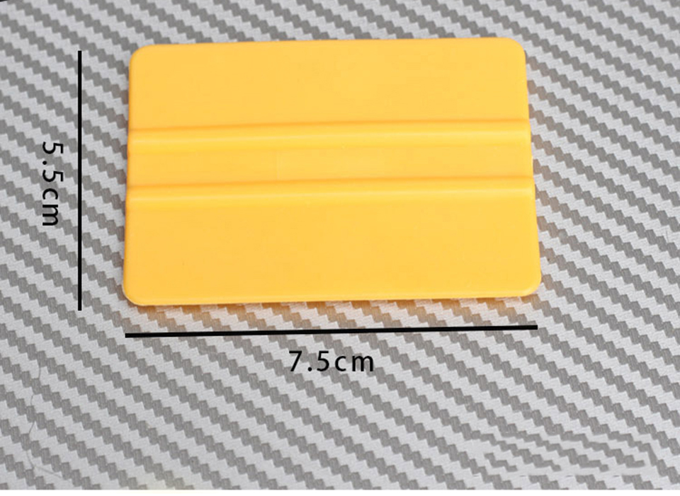 """Image 4 - Mini Squeegee Yellow 3"""" x 2.1"""" Vinyl Car Vehicle Graphic Application Wrap Tool QG 08-in Car Stickers from Automobiles & Motorcycles"""