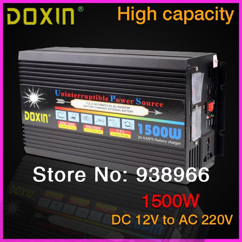 UPS 1500W DC12V to AC220V Car Car Power Inverter Inversor Universal ST-N031 plastic car dc12v 24v to ac220v power inverter with usb port black