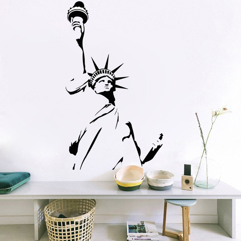 Aliexpress.com : Buy QT031 Statue Of Liberty Wall Sticker New York City  Symbolic Room Decorative Wall Decal Vinyl Removable Wall Stickers Home  Decor From ...