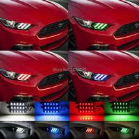 1 Set Controle Remoto RGBW Multicolor LEVOU Placa de Iluminação Kit luz do dia DRL Para Ford Mustang 2015 2016 2017
