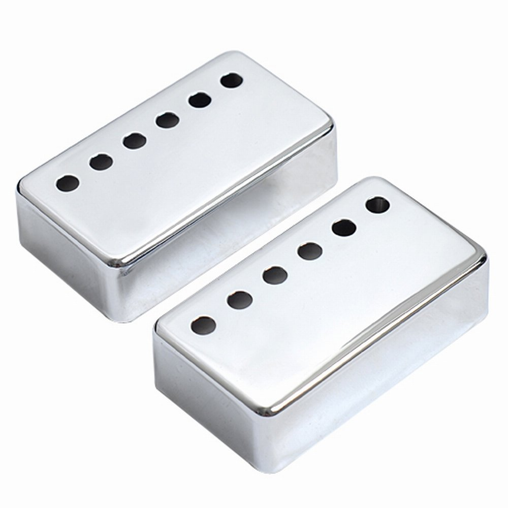 2pcs! Sliver Metal Humbucker Pickup Cover 50/52mm for LP Style Electric Guitar Parts & Accessories rocket hot sale dual hot rail single coil humbucker pickup 4 wire for electric guitar excellent guitar parts