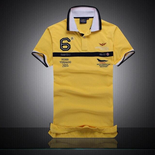 2d0d229cfa3 2016 New Cotton AERONAUTICA MILITARE Air Force One polo shirt Embroidery  Aeronautica