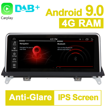 PX6 10.25 4G RAM 64G ROM Android 9.0 System Car GPS Navigation Media Stereo Radio ForBMW X5 E70 X6 E71 2011- 2014 CIC System image