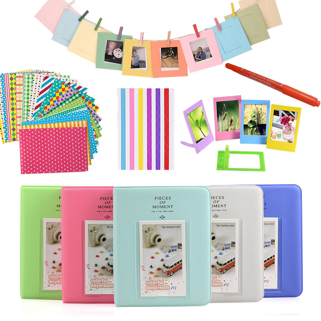 Color Stickers + Photos Album + Photo Frames + Marker Pen For Fujifilm Instax Mini 8 9 25 50 7s 70 Instant Camera & Film Paper