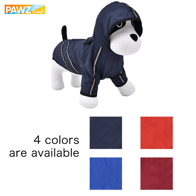 Pawz Road New Dog Raincoat Pet Clothing Apparel Pet Clothes Puppy Clothing Reflective High Quailty Small Dog Jacket 8 Sizes