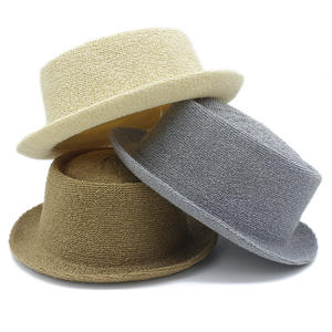 5a4488dc859 HXGAZXJQ Womens Men Straw Lady Beach Summer Panama Sun Hat