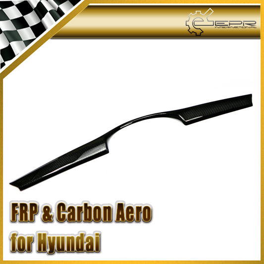 EPR Car Styling For Hyundai Veloster Carbon Fiber Front Bumper Grill Cover (Non Turbo) Fibre Bumper Garnish