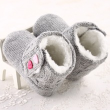 Baby Shoes Infants Crochet Knit Fleece Boots Toddler Girl Boy Wool baby moccasins Booties zapatitos bebe tour de lit