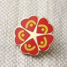 Индивидуальный значок, сделанный на заказ торговый нагрудник, металлическое покрытие с цветным наполнением, значок и монета