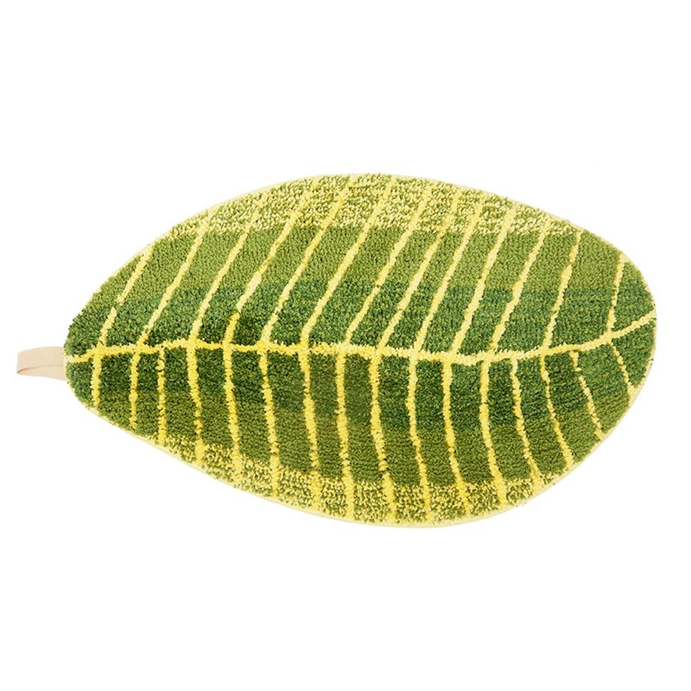Green Superfine Fiber Shag Banana Leaf Super Cozy Fluffy