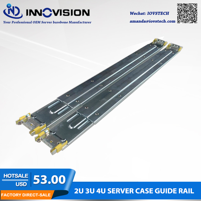 High Quality Special Server Guide Rail for our 2U/3U/4U Server Case,3section rack server slide rails 1u 2u 3u 4u chassis guide industrial server cabinet pull the three guide rails