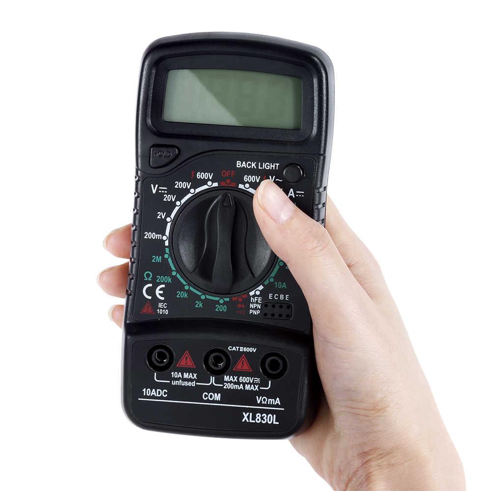 فاستار يده LCD الرقمية المتعدد 1999 XL830L التيار المتناوب/تيار مستمر الجهد أمبير جهاز اختبار المقاومة الحالية الأزرق الخلفية متر