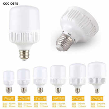 New E27 Energy Saving LED Bulb Light Lamp 5/10/15/20/30/40W Cool White High Sales - DISCOUNT ITEM  30% OFF Lights & Lighting