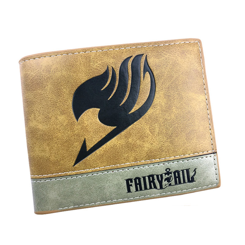 Japanese Anime Fairy Tail Wallets PU Leather Embossing LOGO Purse for Teenager Men Women Card Holder Cartoon Dollar Short Wallet anime attack on titan men wallets pu leather cartoon short purse with zipper coin pocket gifts teenager dollar price wallet