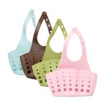 Drain-Bag Sponge Hanging-Sink-Drain-Basket-Storage Kitchen Storage-Tool Sucker Toothbrush-Holder