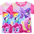 My Little Pony Roupas T-shirt Para a Menina Tops Verão Mangas Curtas Camisa Crianças Roupas Adolescentes Monya