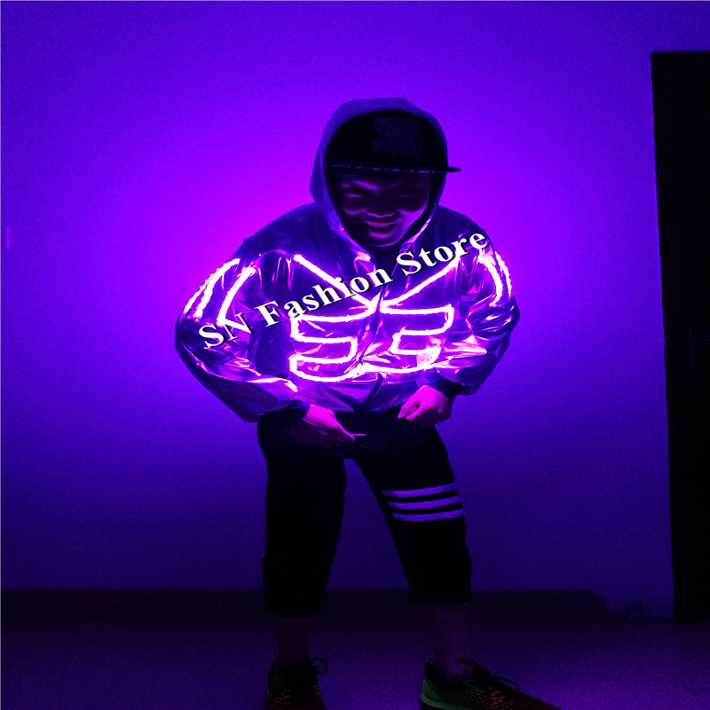 SS5 hip hop LED trajes de baile de salón para hombre lleva danza ...
